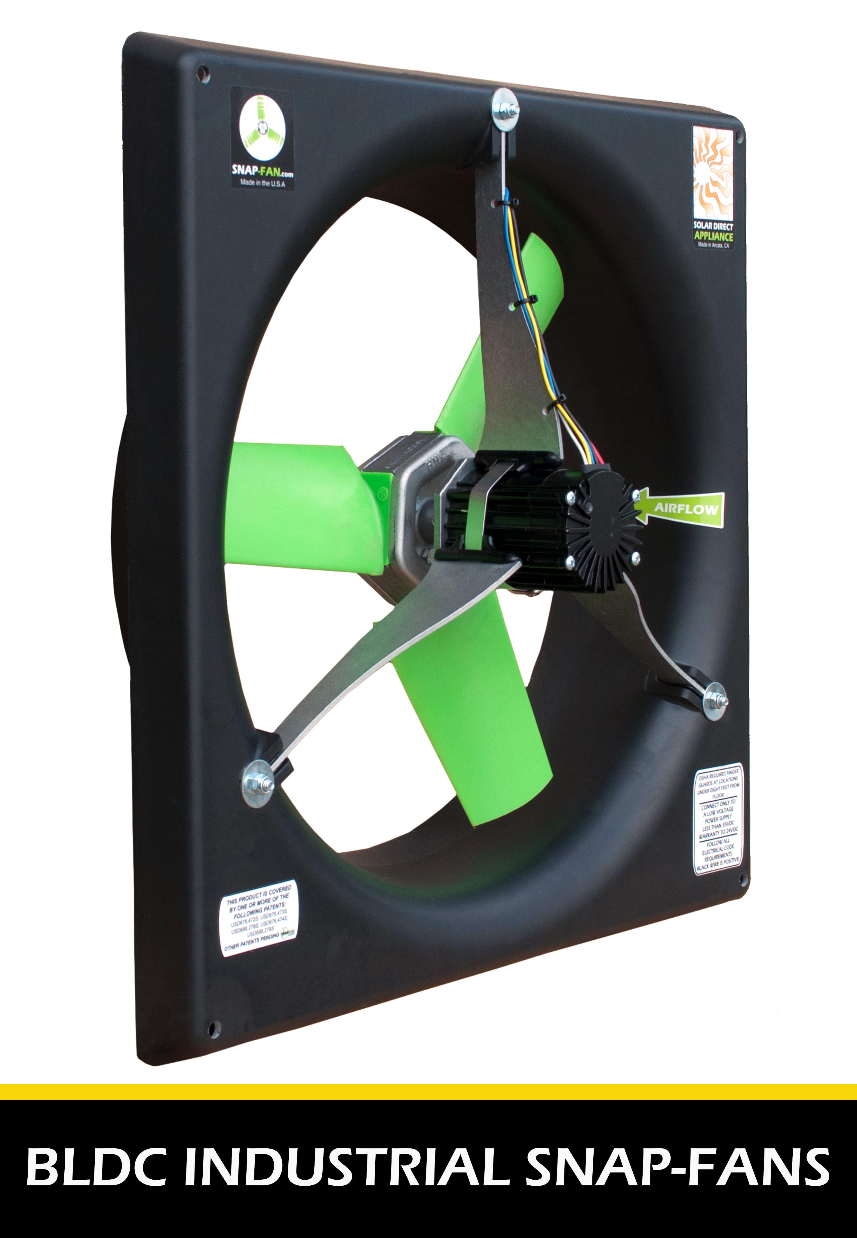 Industrial BLDC battery ventilation fans