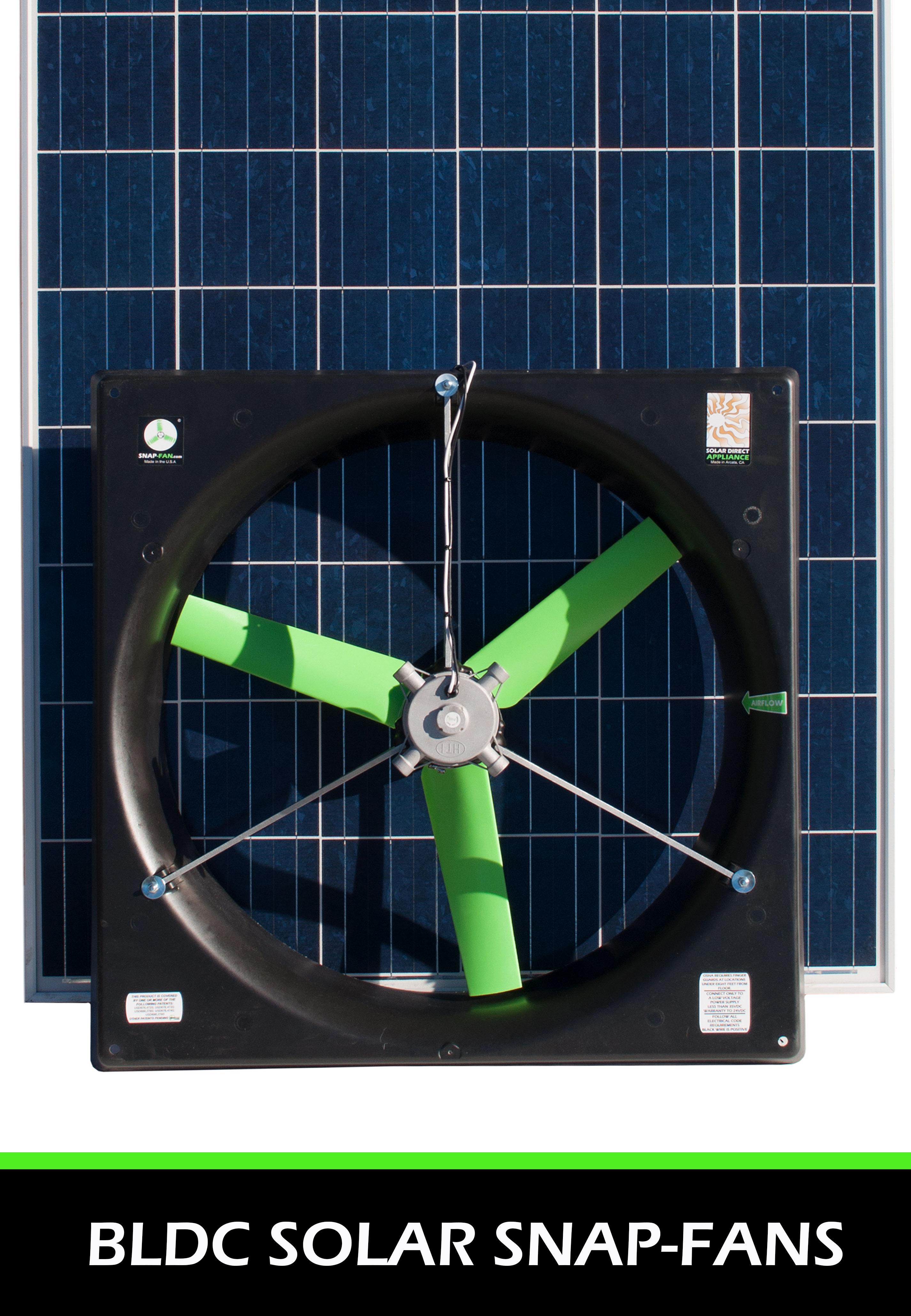 Solar Brushless DC ventilation fans