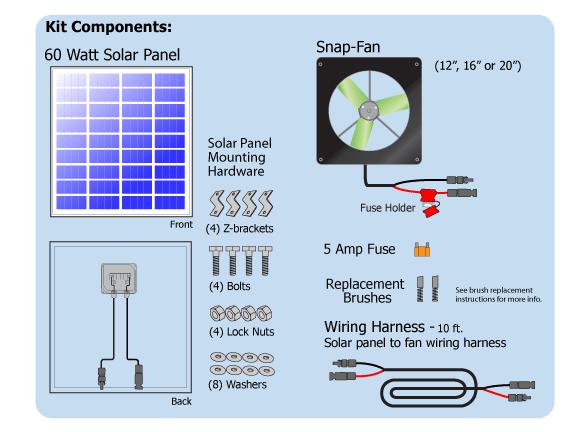 16 inch greenhouse solar fan for 6 plant grow