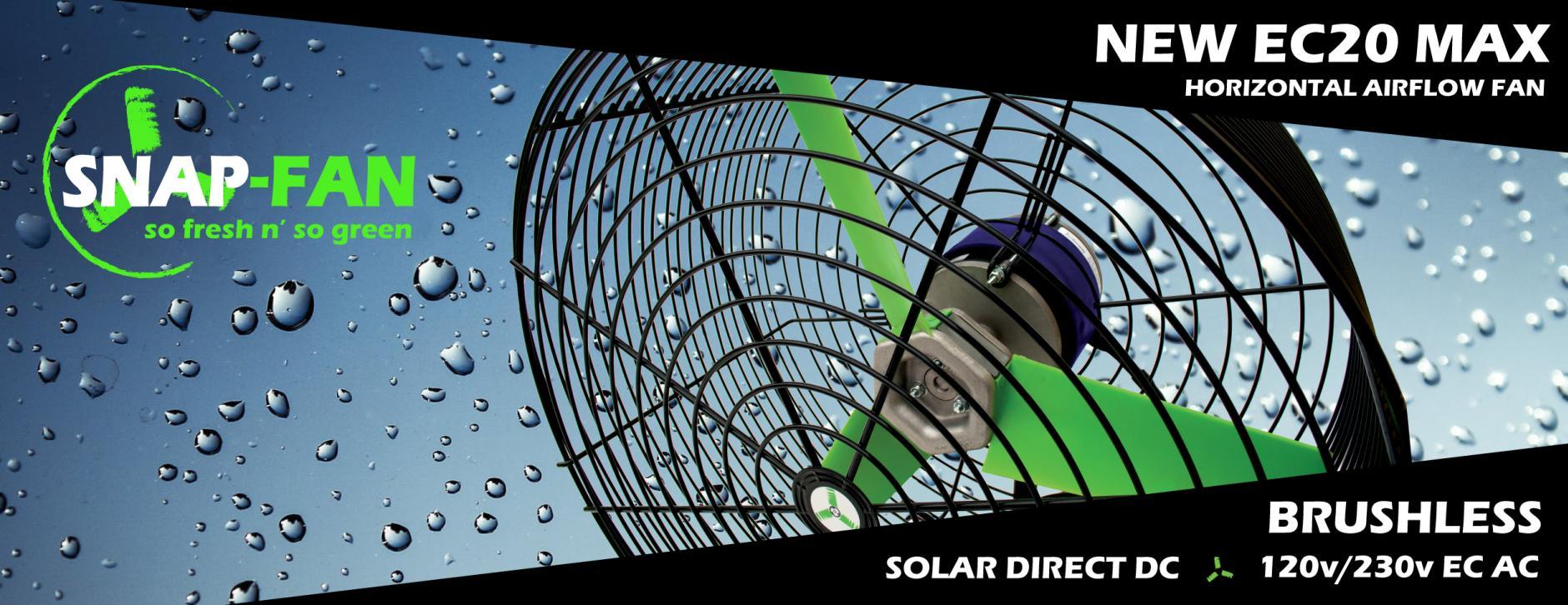 Brushless efficient energy saving grow fan IP54
