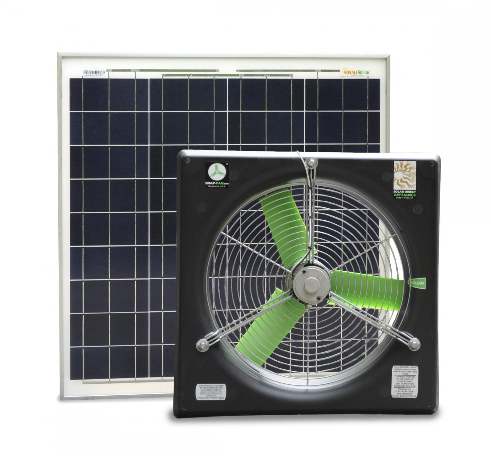 16 Quot Dc Snap Fan Solar Kit Snap Fan Solar National Air