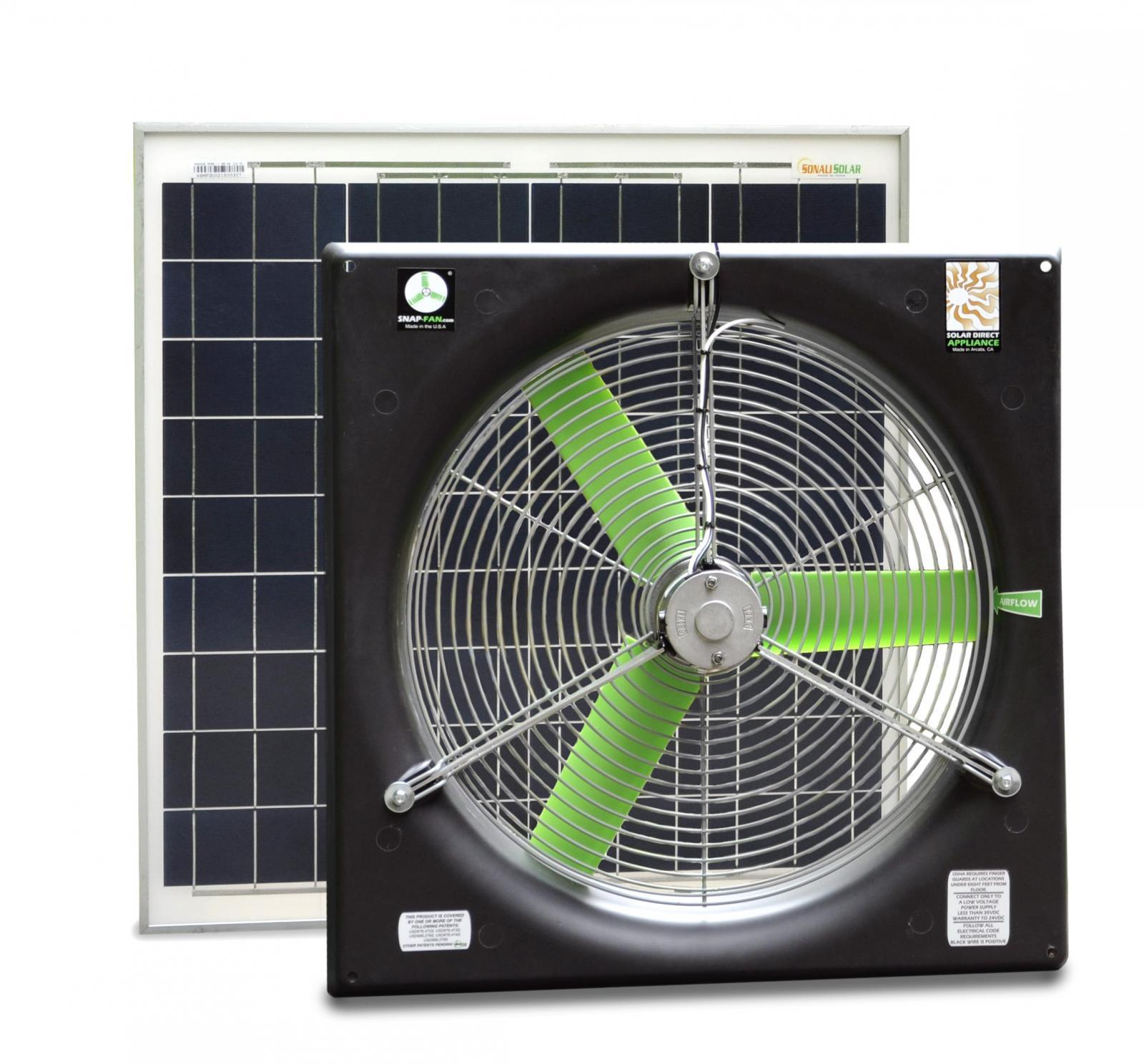 20 Quot Dc Snap Fan Solar Kit Snap Fan Solar National Air