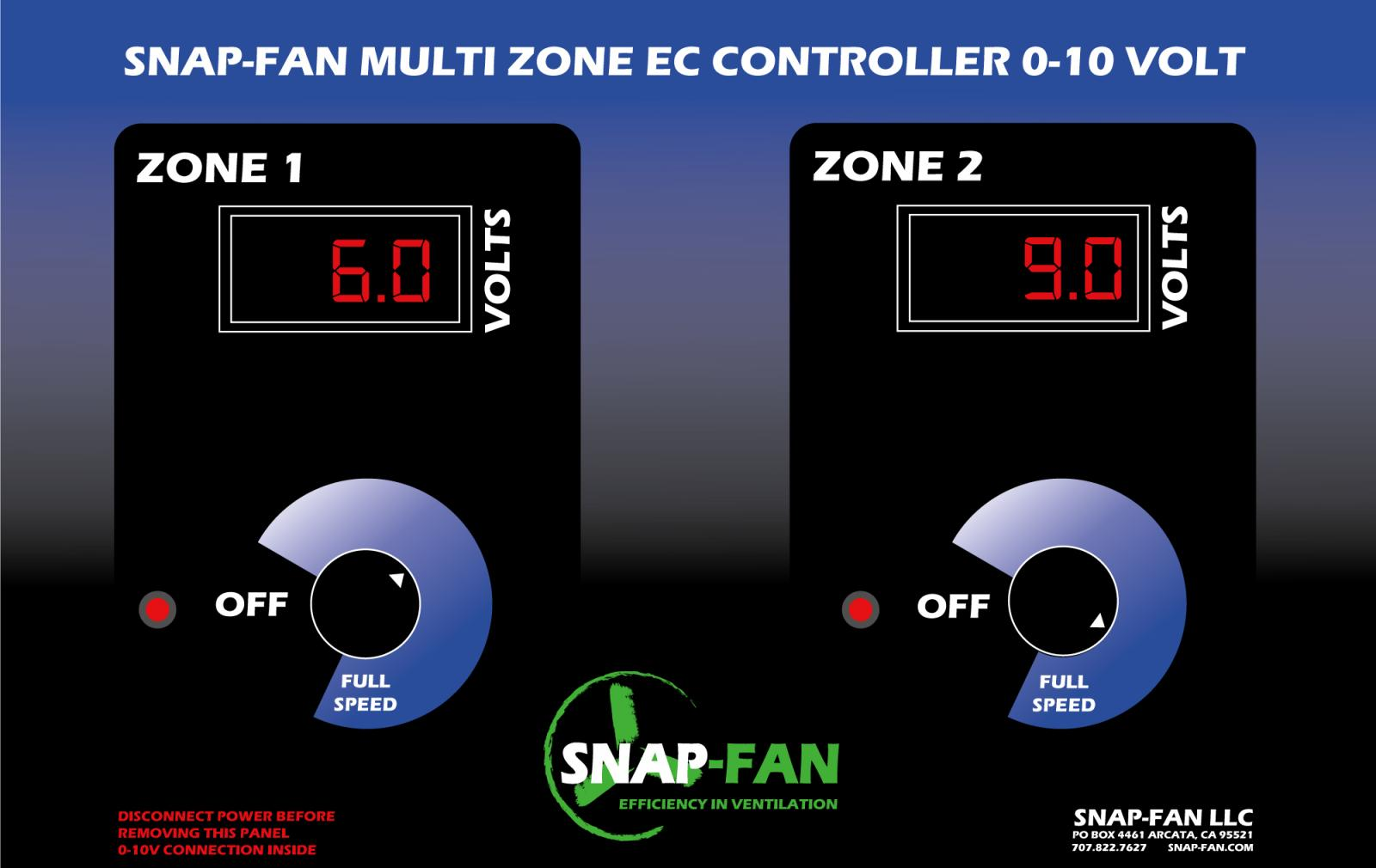 2 zone EC Fan Speed Controller